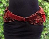 Antique Red - Festival Pocket Belt - Utility belt - Renaissance Faire Inspired