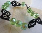Silhouette Leaf  Bracelet