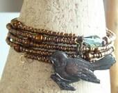 Perched Bird Bracelet - First Robin of Spring