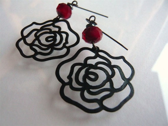 Rose Silhouette Earrings