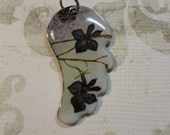 Wing Enamel Copper Pendant