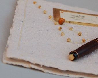 CLEARANCE! Journal-Handmade Paper, Yellow-Clearance