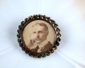 Antique Victorian Gold Filled Mourning Brooch 1890's