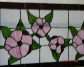 Pink Hibiscus Stained Glass Panel