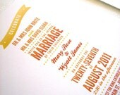 Banner Wedding Stationery Suite on Eco-Friendly Paper