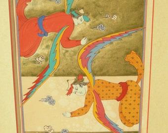 Original Persian painting The Devil tarot card/The Devil card-Tarot card