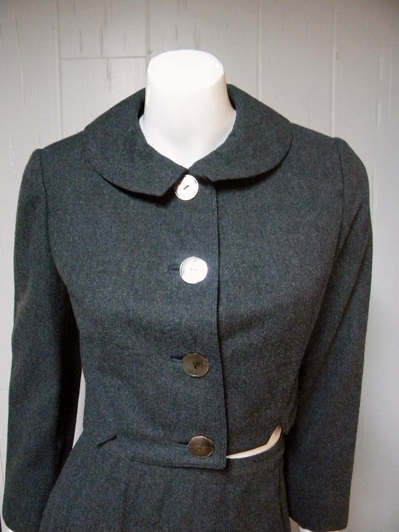 1960s Vintage Lord & Taylor Wool Skirt Suit