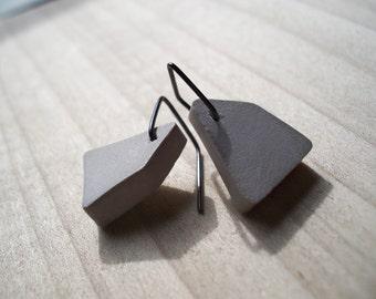 Geometric Concrete - Earrings