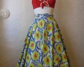 r e s e r v e d. 1950s full skirt. vintage atomic space novelty print circle skirt. saturn jupiter.