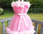 Atutudes Custom Handmade Couture Cotton Candy Feather Petti Tutu Dress