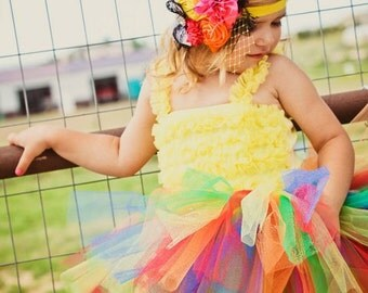 Girls 1st Birthday Tutus Rainbow Tutus for Children
