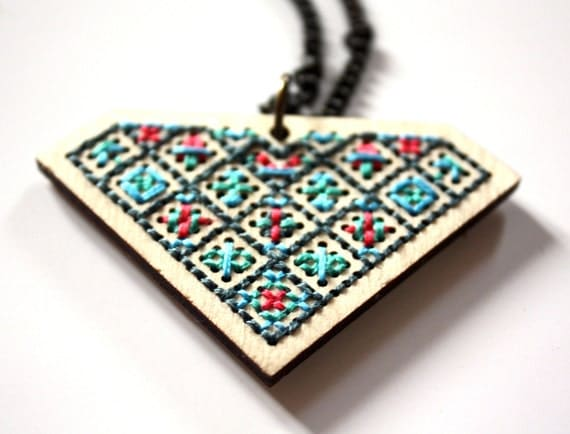 """Necklace """"geometric"""" - number one"""