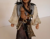The scruffy Pirate - 12th scale dollhouse miniature figure by Jo Med