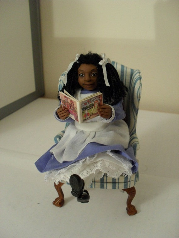 SALE           Dollhouse character - Caribbean Alice in Wonderland.