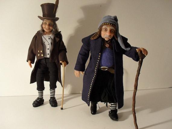 Dollhouse Miniature Blue Dwarf - Samuel Snuckleweed.