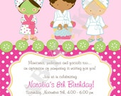 Spa Party Invitation - DIY Print Your Own  - Matching party printables available