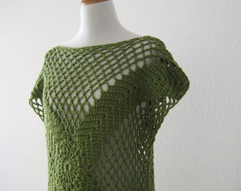 Olive Green Tunic Sweater