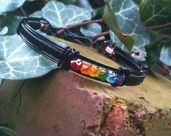 Black Pride Bangle Bracelet