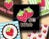INSTANT DOWNLOAD Berry Sweet (212) 4x6 Digital Collage Sheet 1 inch square images for glass tiles resin pendants magnets stickers ..