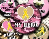 INSTANT DOWNLOAD Army Girly Designs(140) 4x6 Bottle Cap Images Digital Collage Sheet for bottlecaps glass tiles hair bows bottlecap images