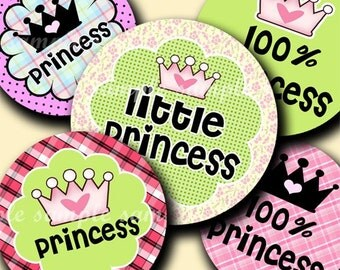 INSTANT DOWNLOAD Princess (173) 4x6 Bottle Cap Images Digital Collage Sheet for bottlecaps glass tiles hair bows .. bottlecap images