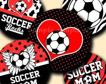 INSTANT DOWNLOAD New Soccer Rocks (185) 4x6 Bottle Cap Images Digital Collage Sheet for bottlecaps glass tiles hair bows .. bottlecap images