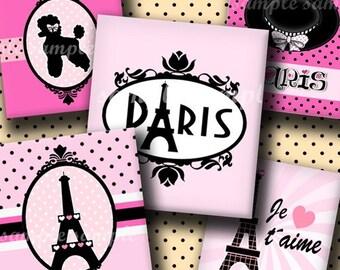 INSTANT DOWNLOAD Paris (229) 4x6 Digital Collage Sheet ( 0.75 inch x 0.83 inch ) scrabble tile images  for scrabble tiles resin pendants ..