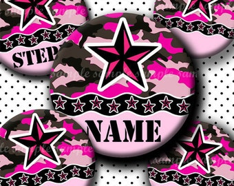 INSTANT DOWNLOAD Editable JPG Girly Camouflage Stars (272) 4x6 Bottle Cap Images Digital Collage Sheet for bottlecaps hair bows images