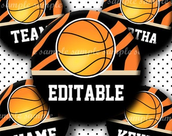 INSTANT DOWNLOAD Editable JPG Basketball (456) 4x6 Bottle Cap Images Digital Collage Sheet for bottlecaps hair bows .. bottlecap images