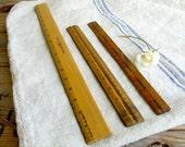 old wood rulers vintage wooden rulers collection of rulers vintage school