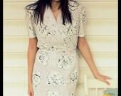 Vintage Dress-Pretty White SIZE S/M