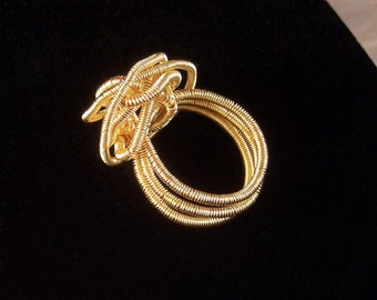 Gold-tone Knot Ring - by Jewelyett