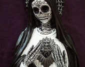 SALE ... Day of the Dead Sacred Heart Virgin Mary wall art hanging Sugar Skull dia de los muertos