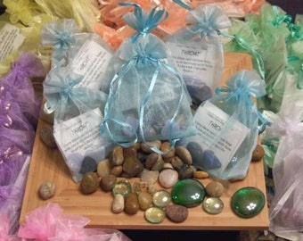 Gemstone Bag for Throat Chakra - Activate, Heal, Cleanse, and Balance