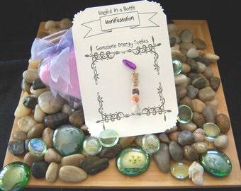 Manifestation Gemstone Energy Bottles - Magick in a Bottle