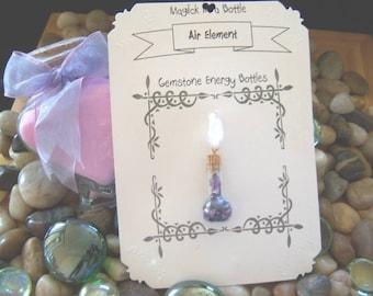 Air Element Gemstone Energy Bottle - Magick in a Bottle - Mental Clarity, Spirit Realm, Communication