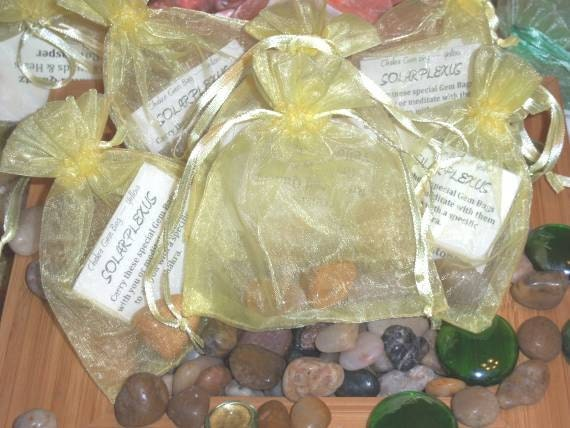 Gemstone Bag for Solar Plexus Chakra - Activate, Heal, Cleanse, and Balance