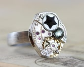 Unisex Ring Unique Gift For Him Steampunk Ring CUSTOM Steampunk Jewelry Steampunk Gift For Man Father Steam Punk Jewelry 6 7 8 9 10 11 12