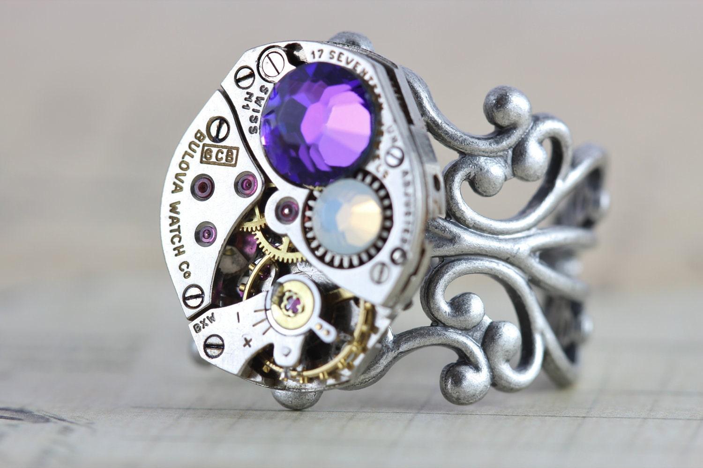 mothers ring custom birthstone ring steampunk ring