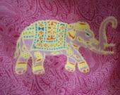 Elephant Love-  Maharani pink elephant beach cover-up or wrap up skirt