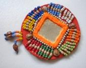 SALE- Bellydance costume- 4 Orange or Green mirror base Medallions- SAI1