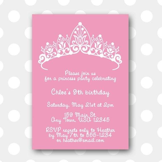Printable Birthday Party Invitation Princess By