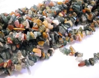 """Bead Chips Gemstone Beads in Bulk Wholesale Indian Agate Beads 5mm-8mm 36"""" Strand"""