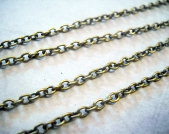 10 Feet Bronze Chain Antiqued Bronze Cable Chain 4x3 Links Wholesale Chain by the Foot 10ft Bulk Chain for Necklace Making