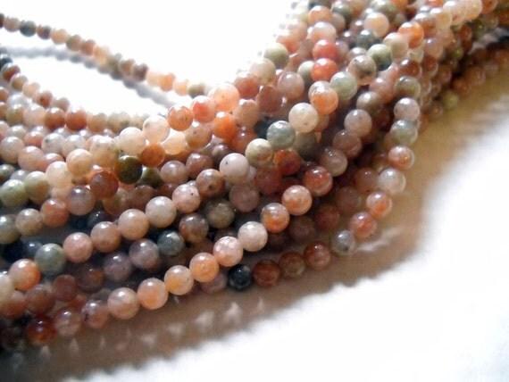 Unakite Beads-Gemstone Beads-4mm