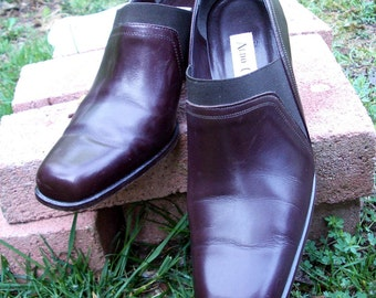 Women's Vintage ITALIAN LEATHER Shoes, designer Aldo Chelini, TOP Quality, 7M