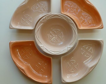 POTTERY, Maurice of California, Mid-century Modern, Relish Tray/ snack server