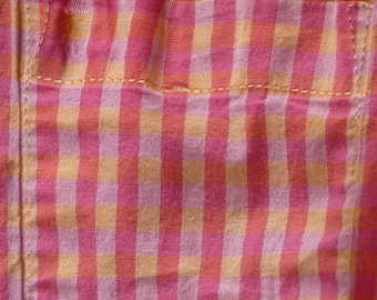 Super SALE...Checkered SHIRT in Pinks, women's, Teens, COTTON