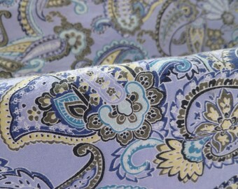 REDUCED...Paisley shirt in Blues, 100% Cotton, Size small