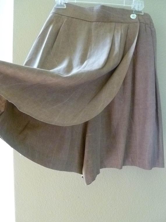 SKORT, stonewashed brown, size 14